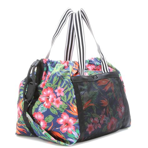 printable fabric bags y 3 printed fabric beach bag in black lyst
