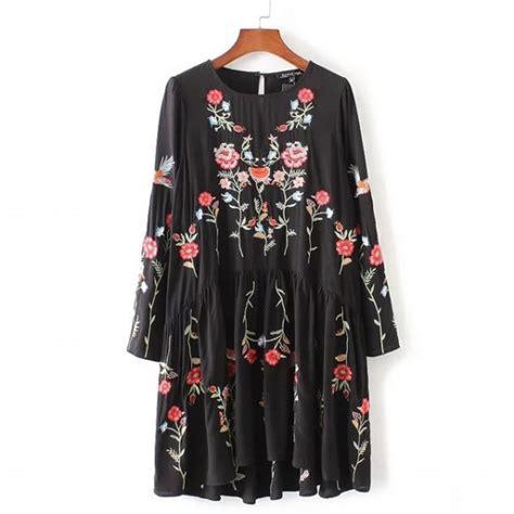 платье aliexpress autumn fashion brand floral embroidered