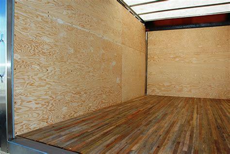 Plywood Interior Wall Finish by Custom Truck Bodies Summit Bodysummit