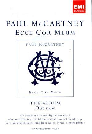 Paul Mccartney World Premiere Performance Of Ecce Cor Meum At Royal Albert by Ecce Cor Meum World Premiere 3rd November 2006 Uk