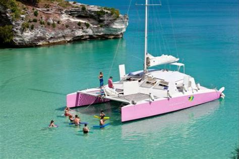 bermuda catamaran sail and snorkel tour book a charter on the restless native private and