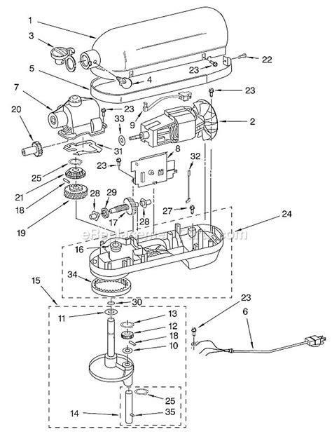 kitchenaid stand mixer parts diagram 7 best fix a kitchenaid professional stand mixer images