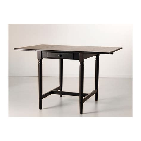 ikea drop leaf table ingatorp drop leaf table black brown 59 88 117x78 cm ikea