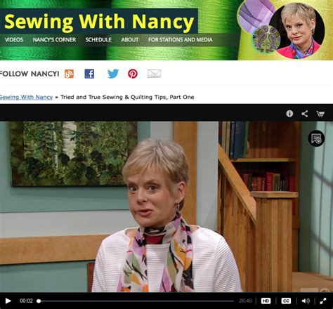 Tv Quilting Shows by 50 Tried True Sewing Quilting Tips From Nancy Zieman