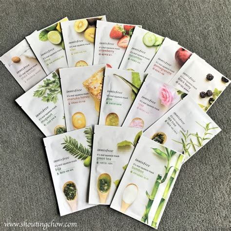 Harga Innisfree Mask Sheet jual innisfree it s real squeeze mask masker korea