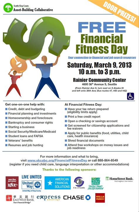 business assistance at free financial fitness day