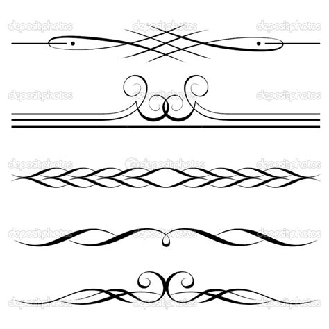 Decorative Line Borders by Dividers Decorative Elements Border And Page