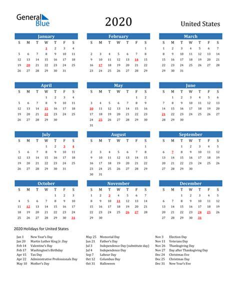 calendar united states  holidays