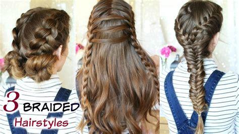 heatless braid hairstyles 3 cute heatless braided hairstyles braid ideas