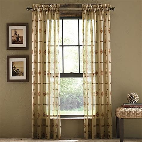 croscill sheer curtains buy croscill 174 chimayo sheer rod pocket 108 inch window