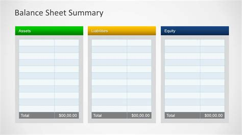 simple balance sheet template simple balance sheet powerpoint template slidemodel