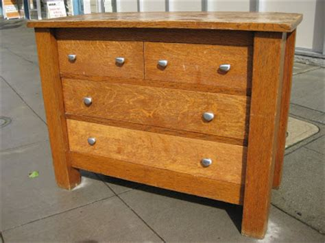 Tiger Oak Furniture by Uhuru Furniture Collectibles Sold Tiger Oak Dresser