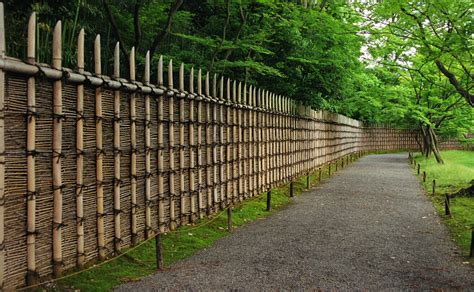 Attractive Bamboo Garden Fence The Terraces Walls Stairs