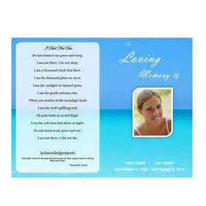 Funeral Program Template Download Waterscape 5 Funeral Pamphlets