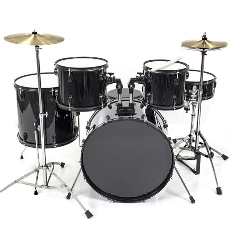 And Black Set by Drum Set 5 Pc Complete Set Cymbals Size Black