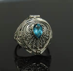 Make A Funeral Program Blue Topaz Cremation Urn Ring Sz 9 Sterling Silver Cremation Jewelry Memorial Ebay
