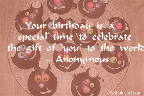 Time Birthday Quotes Your Birthday Is A Special Time Happy Birthday Quote