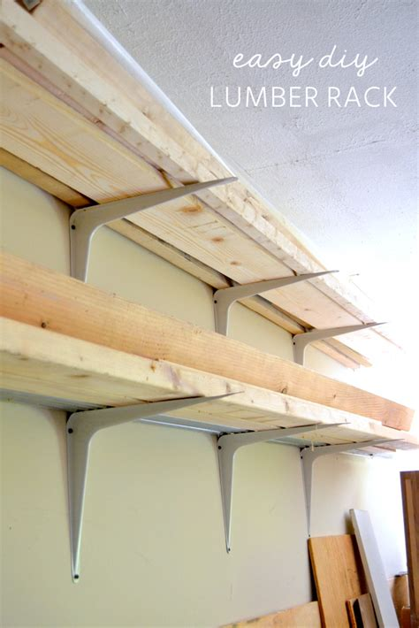Diy Rack by Cheap And Easy Diy Lumber Rack The Duckling House