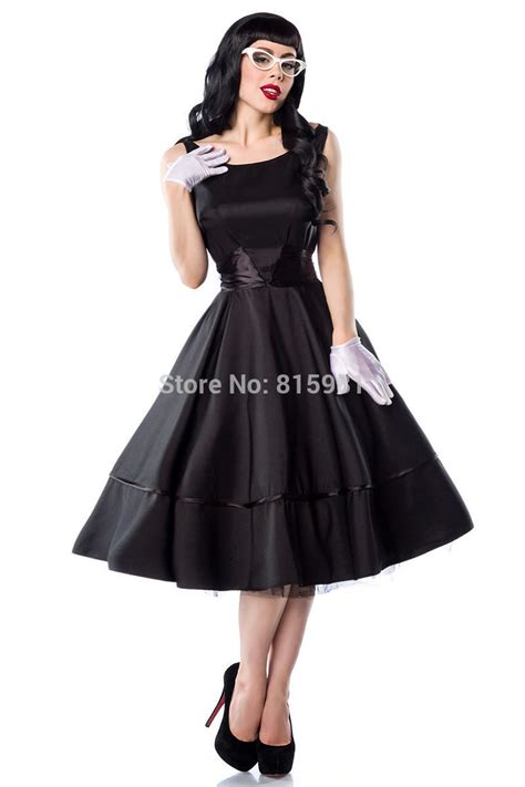 plus size swing dress rockabilly black straps 50s rockabilly dress vintage swing dress plus