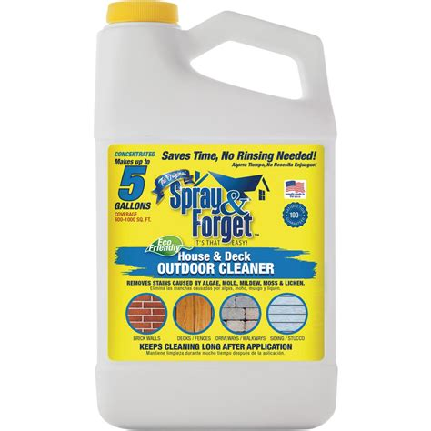 oz house  deck cleaner outdoor mold remover