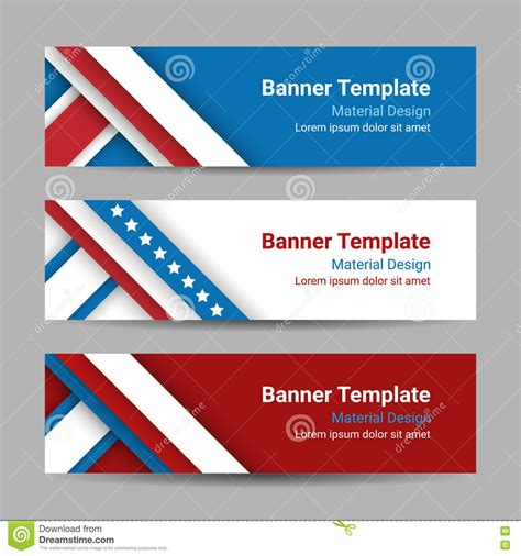 material design header color set of modern vector horizontal banners page headers with