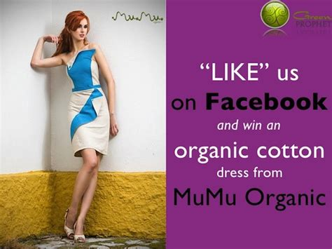 Which Green Are You Tell Us And Win by Like Us On And Win An Organic Cotton Dress
