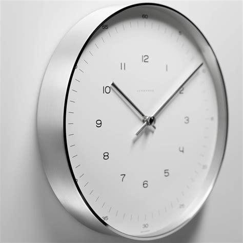 wanduhr grau max bill wall clocks numbers by junghans