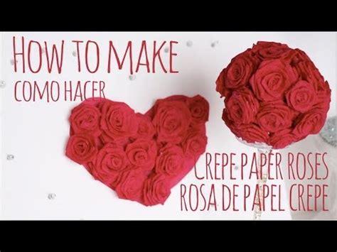 como hacer moo de papel crepe como hacer rosas de papel crepe how to make crepe paper