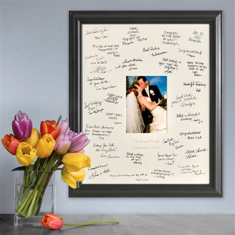 Picture Frame Signature Mat by Personalized Wedding Photo Frame Guest Signature Mat Personalizedcustomgifts