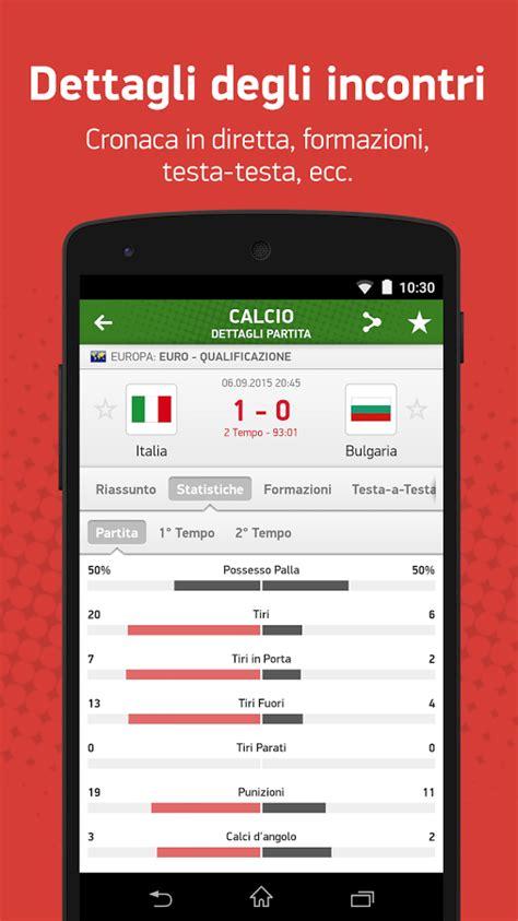 diretta goal mobile risultati e statistiche di 30 sport in tempo reale con l
