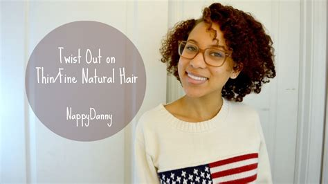 natural hair styles for thinning hair in the crown twist out on thin fine natural hair youtube