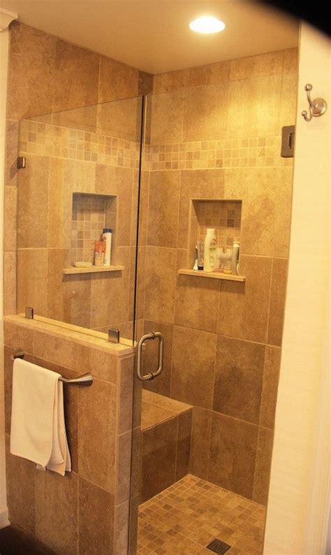 half wall shower 25 best ideas about half wall shower on