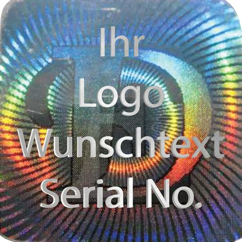 Siegel Aufkleber Kaufen by Hologramm Aufkleber Siegel Aufkleber Hologram Silber