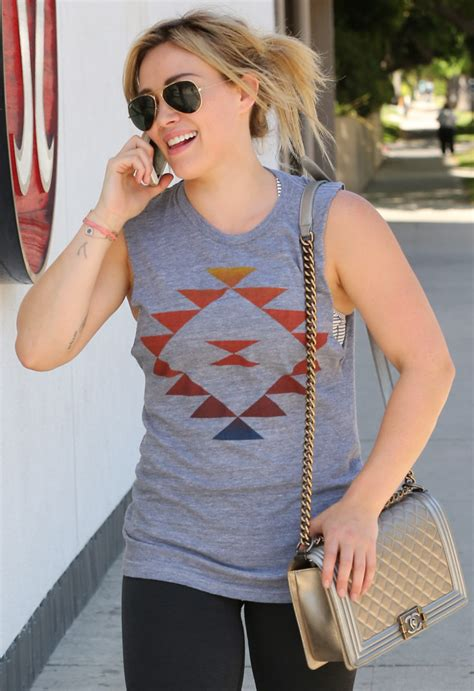 Other Designers Hilary Duff With Designer Travel Bags by Hilary Duff Is As Excited About Chanel Boy Bag As We