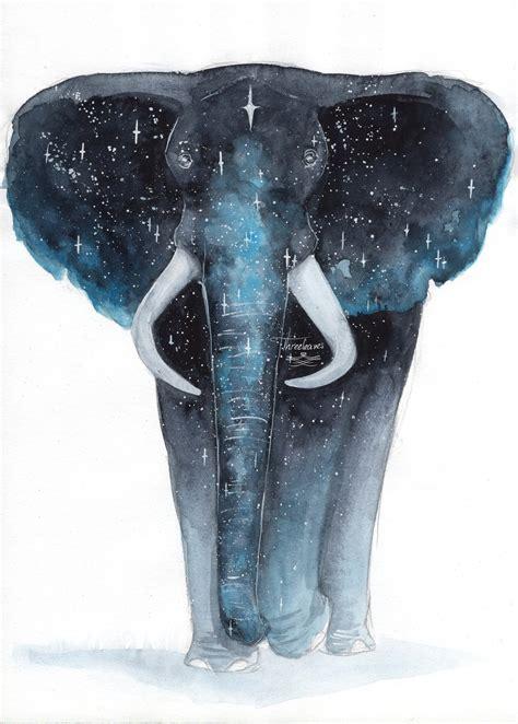 emoji elephant wallpaper galaxy elephant by threeleaves on deviantart