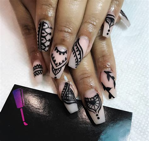 tutorial nail art pakai henna how to apply henna on nails great design with tutorial