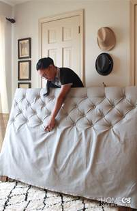 Diy Tufted Headboard Diy Tufted Headboard Tutorial Our Home Sweet Home