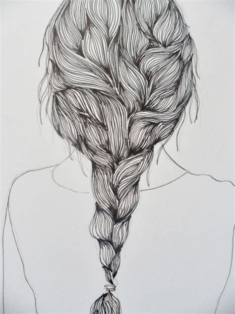 Sketches Hair by Hair Drawing On
