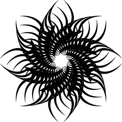 clipart tribal flower 3