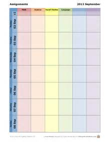 Student Assignment Planner Template Pin Weekly Homework Planner Template Picture On Pinterest
