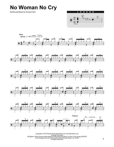bob marley no no cry original no no cry sheet bob marley drums transcription