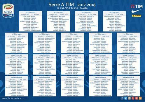 Calendrier Italie Serie A Le Calendrier Complet De La Nouvelle Saison