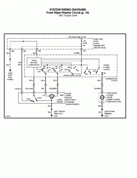 1995 suzuki swift wiring diagram manual original image