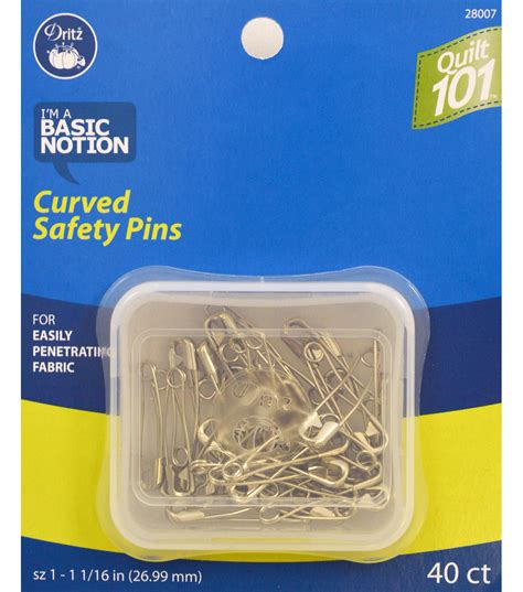 quilting 101 curved safety pins size 1 40 ct jo