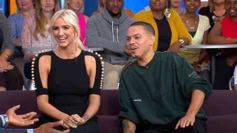 ashlee simpson good morning america ashlee simpson taught evan ross to really be yourself on