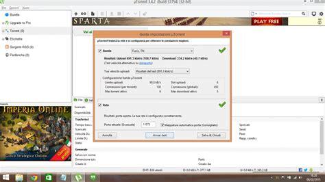 configurazione porte utorrent come configurare ottimizzare e velocizzare utorrent