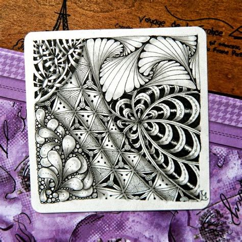 lily s tangles 17 and 18 weekly tiles zentangle
