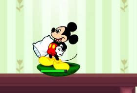 Mickey And Friends In Pillow Fight by Worms Free With Qgames Org