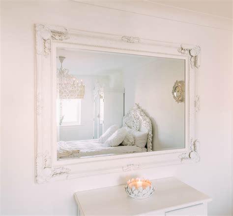 White Bench With Baskets Maddelena Large White Mirror La Maison Chic