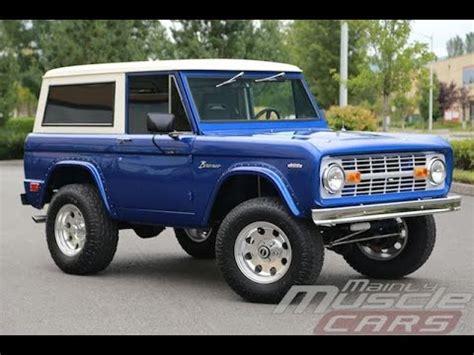 1969 ford bronco vista blue youtube